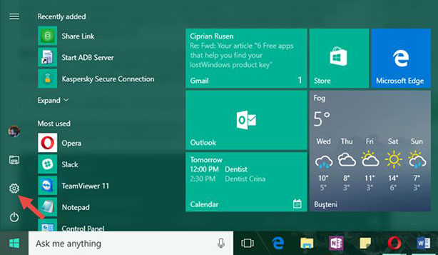 Настройки за Windows 10